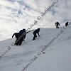 Walking up to the summit - winter skills scotland